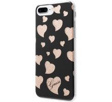 Guess Hearts TPU Pouzdro Black pro iPhone 7 Plus - GUHCP7LGLHBK