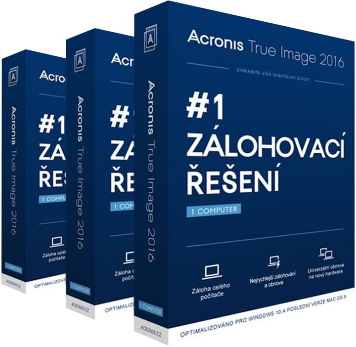 Acronis True Image 2016 BOX CZ pro 3 PC