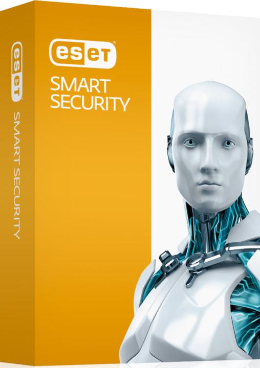 ESET Smart Security pro 3 PC na 2 roky, prodloužení licence