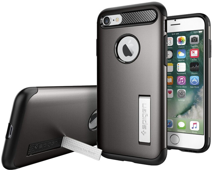 Spigen Slim Armor pro iPhone 7, gunmetal