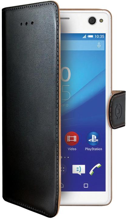 CELLY Wally pouzdro pro Sony Xperia C4, PU kůže, černá