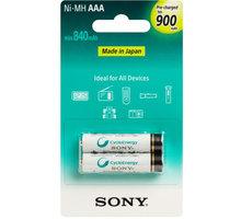 Sony NiMH nabíjecí baterie AAA / 900 mAh / 2 ks v blistru - NH-AAAB2GN