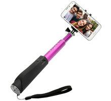 FIXED Bluetooth selfie stick s tlačítkem, růžová - FIXSS-BT-PI