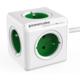 PowerCube EXTENDED prodlužovací přívod 1,5m - 5ti zásuvka, zelená