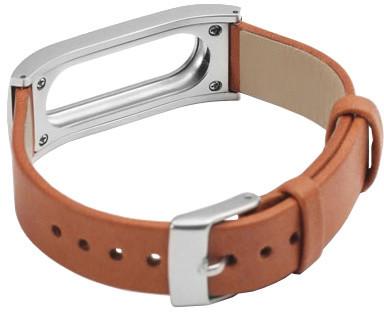 Xiaomi Leather and metal wrist strap náhradní pásek pro Xiaomi MiBand