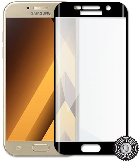 Screenshield temperované sklo na displej pro Galaxy A5 2017 (A520), kovový rámeček, černá