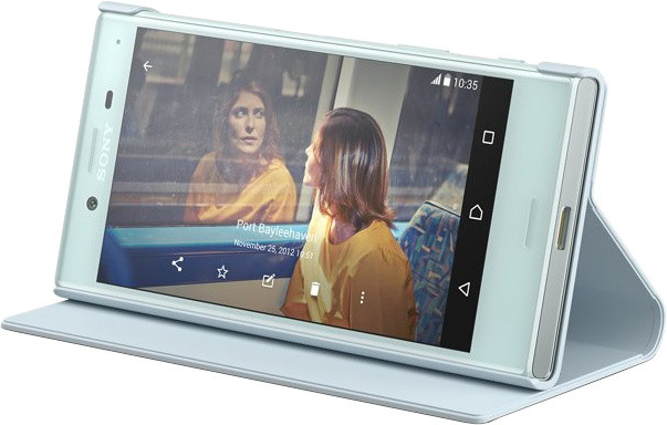 Sony SCSF20 Style Cover Flip pro Xperia X Compact, modrá