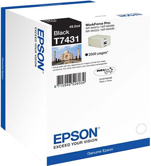 Epson C13T74314010, černá