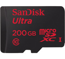 SanDisk Micro SDXC Ultra Android 200GB 90MB/s UHS-I + SD adaptér - SDSDQUAN-200G-G4A