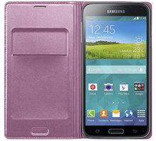 Samsung flipové pouzdro s kapsou EF-WG900B pro Galaxy S5, růžová