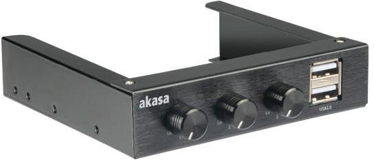"""Akasa kontrolní panel AK-FC-06BKV2, 3,5"""""""