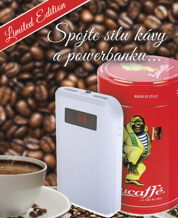 Remax SET power bank 10.000 mAh + káva Lucaffe