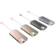 Gmobi Multi-port USB-C Hub HDMI a Ethernet, šedá