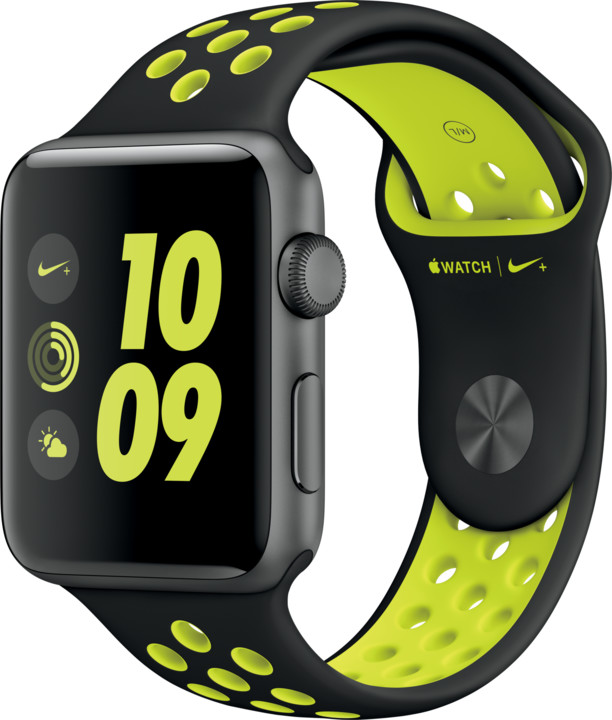 Apple Watch Nike + 42mm Space Grey Aluminium Case with Black/Volt Nike Sport Band