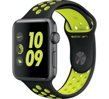 Apple Watch Nike + 42mm Space Grey Aluminium Case with Black/Volt Nike Sport Band - MP0A2CN/A