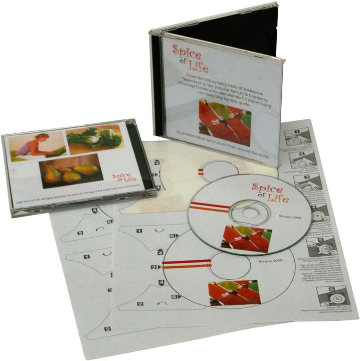 Xerox štítky - barevný digitální tisk - CD Label Supergloss 1/2 , A4 ,100ks
