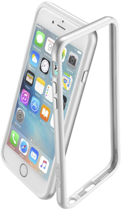 CellularLine Bumper Satin ochranný rámeček pro Apple iPhone 6, stříbrný