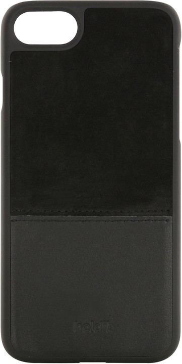 Holdit Case Apple iPhone 6s,7 - Black Leather/Suede