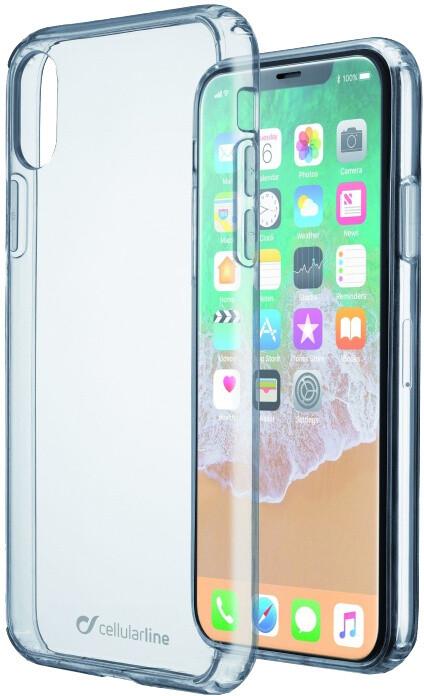 CellularLine CLEAR DUO zadní čirý kryt s ochranným rámečkem pro Apple iPhone X