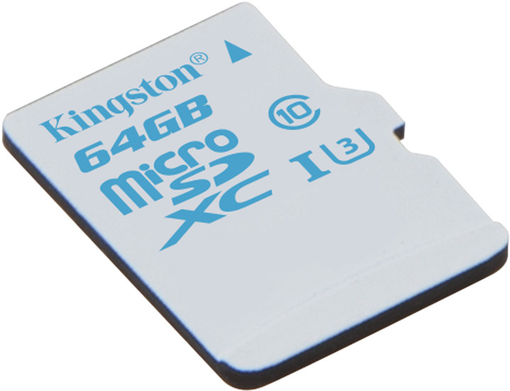 Kingston Action Card Micro SDXC 64GB Class 10 UHS-I U3