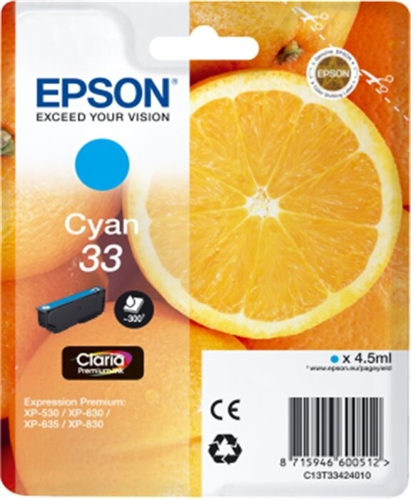Epson C13T33424010, azurová