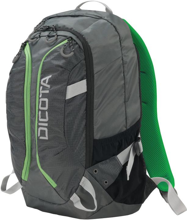 "DICOTA Active - Batoh na notebook - 15.6"" - šedá, žlutozelená"