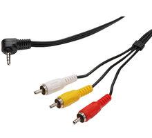 PremiumCord 3.5mm 4 pinový - 3x CINCH RCA, M/M, 1,5m - 4040849502095