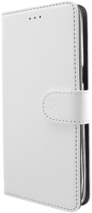 CELLY Wally Pouzdro typu kniha pro Samsung Galaxy S8, PU kůže, bílé