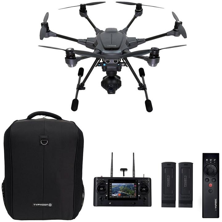 YUNEEC hexakoptéra - dron, TYPHOON H (RealSense), včetně WIZARD ovladače