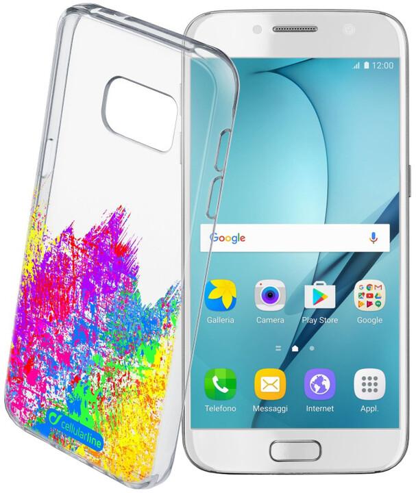 Cellularline STYLE průhledné gelové pouzdro pro Samsung Galaxy A5 (2017), motiv ART
