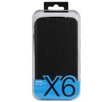 DooGee X6/X6 PRO Flip Case + Screen Protector Glass, černá - ACCDG010
