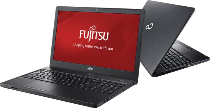Fujitsu Lifebook A557, černá