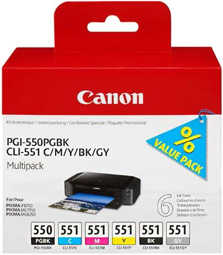 Canon PGI-550 + CLI-551, multipack