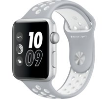 Apple Watch Nike + 42mm Silver Aluminium Case with Flat Silver/White Nike Sport Band - MNNT2CN/A