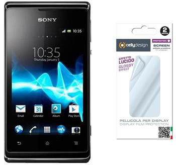 CELLY Screen protector pro displej Sony Xperia E