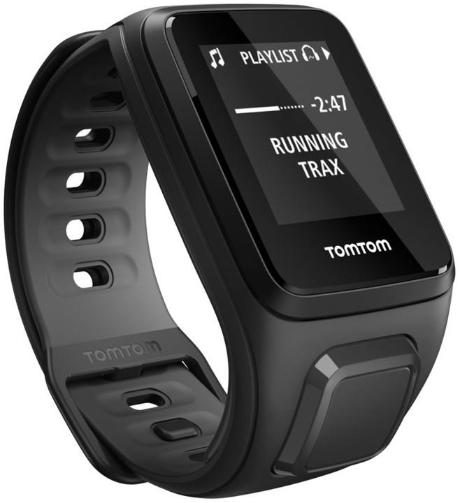 TOMTOM Runner 2 Cardio + Music (velikost S), černá/antracit