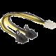 Delock napájecí kabel PCI Express 6 pin (F) > 2 x 8 pin (M)