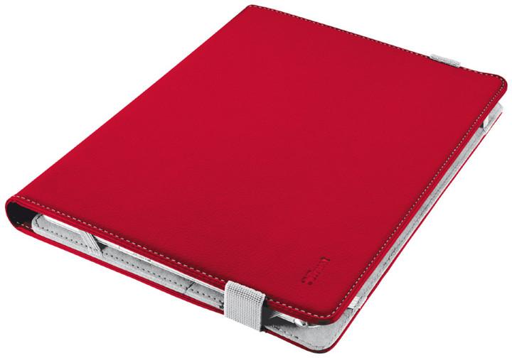 """Trust Verso Universal Folio Stand pouzdro na 10.1"""", červené"""