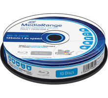 MediaRange BD-R 4x, 25GB, Printable, 10 ks, spindle - MR496