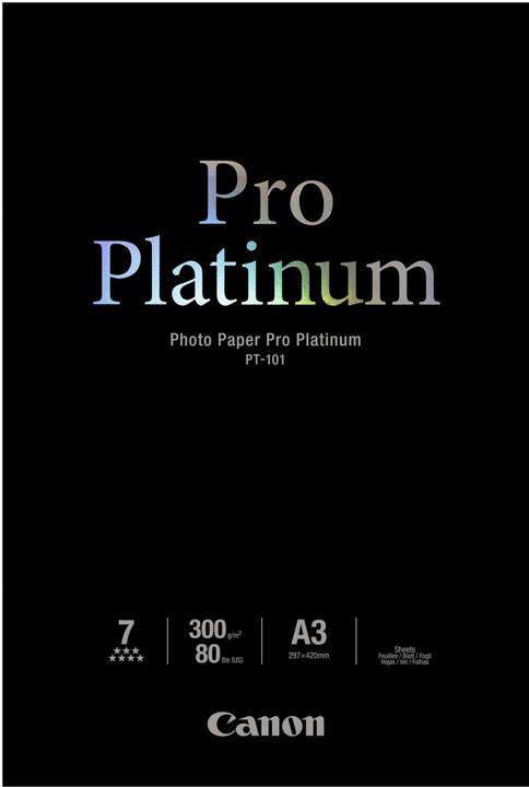 Canon Foto papír Pro Platinum PT-101, A3+, 10 ks, 300g/m2, lesklý