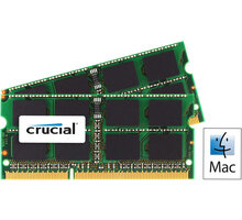 Crucial Mac Compatible 8GB (2x4GB) DDR3 1333 SO-DIMM CL 9 - CT2C4G3S1339MCEU
