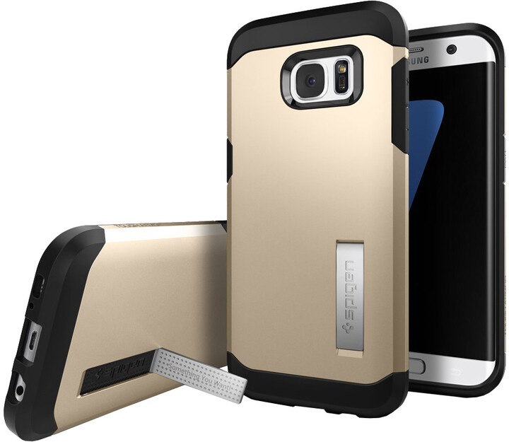 Spigen Tough Armor, gold - Gal S7 edge