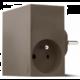 USBEPower HIDE Power Hub charger 3USB/2plugs, hnědošedá