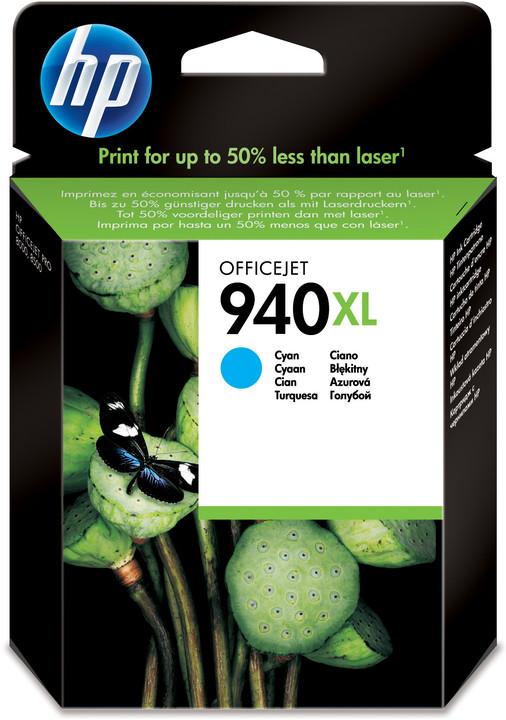 HP C4907AE, č. 940XL, azurová – ušetřete až 50 % oproti standardní náplni