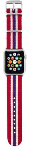 Trust náramek pro Apple Watch 42mm, červená proužky