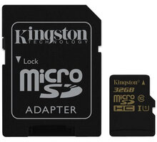 Kingston Micro SDHC 32GB Class 10 UHS-I + SD adaptér - SDCA10/32GB