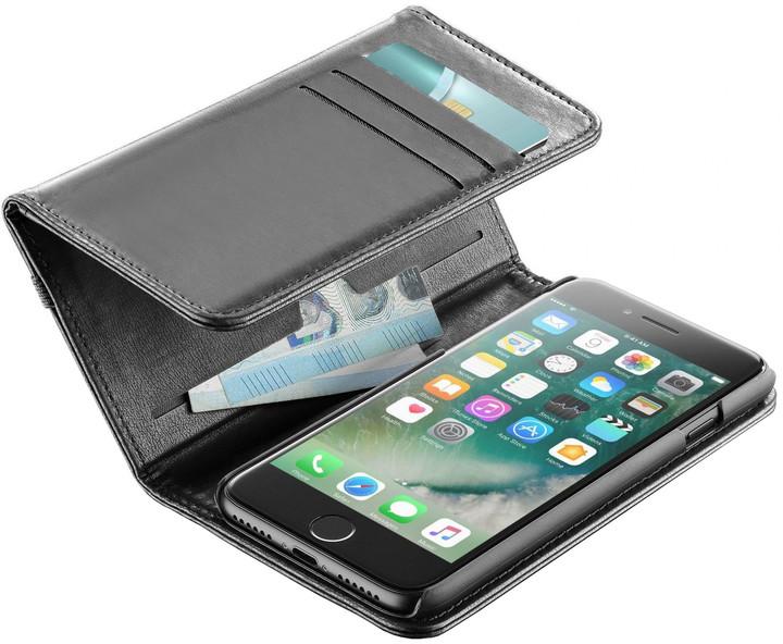 CellularLine WALLET pouzdro typu kniha s peněženou pro iPhone 7, černé
