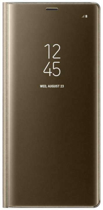 Samsung flipové pouzdro Clear View se stojánkem pro Note 8, zlatá