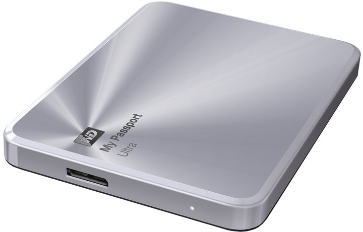 WD My Passport Ultra Metal - 1TB, stříbrná