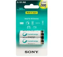 Sony NiMH nabíjecí baterie AA / 2500 mAh / 2 ks v blistru - NH-AAB2GN
